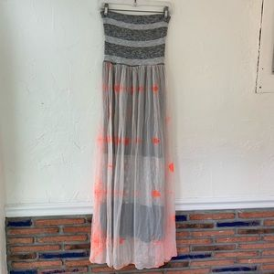 Anthropologie Scrapbook Tie Dye Maxi Dress